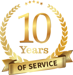 10 Years of Service Badge